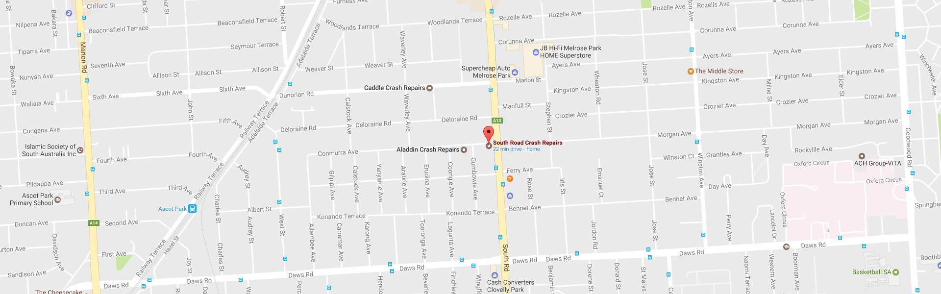 south-road-crash-map